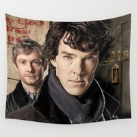 sherlock Wall Tapestries featuring Sherlock  by SB Art Productions