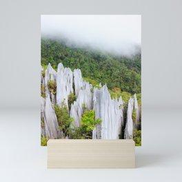 Pinnacles limestone formation in Gunung Mulu national park Borneo Malaysia Mini Art Print