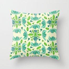 Succulent Pattern Throw Pillow