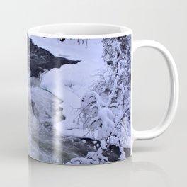 Water Fall In Winter Coffee Mug