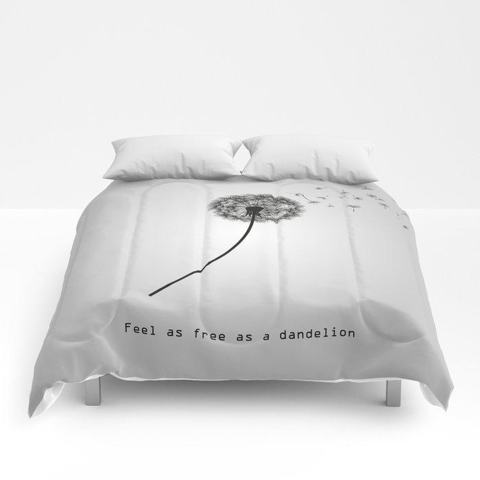 Feel as free as a dandelion Comforters