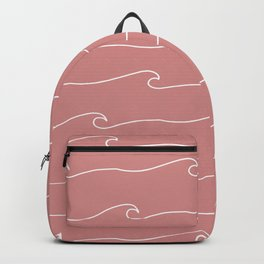 Waves & Lines - Pattern - Dusty Pink Backpack
