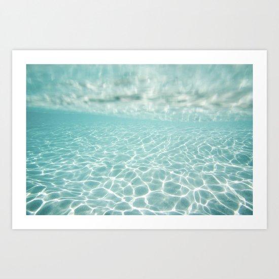 Under Water Light Art Print