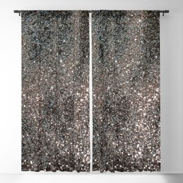 Silver Glitter #1 #decor #art #society6 Blackout Curtain
