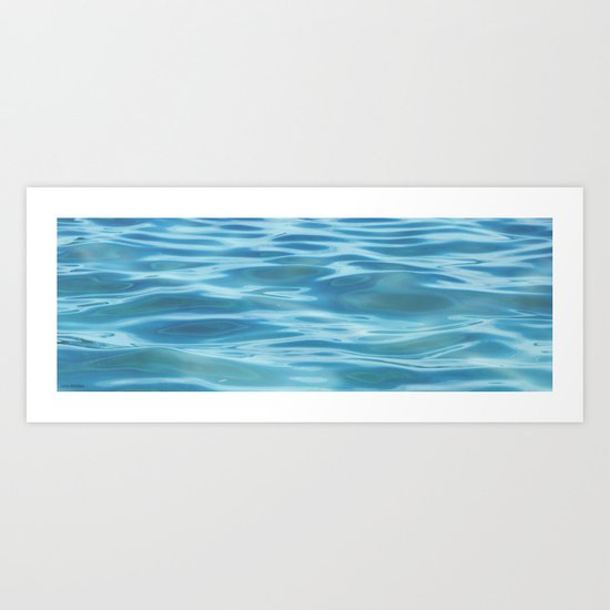 Water / H2O #68 (water abstract) Art Print