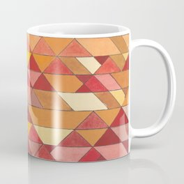 Triangle Pattern no.4 Warm Colors Red and Yellow Coffee Mug
