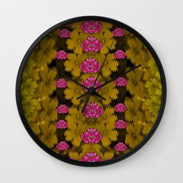 Flowers everywhere for making pleasure pop art Wall Clock