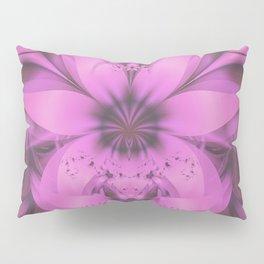 Pretty in Pink Fractal Flower Star-Shaped Petunias Pillow Sham