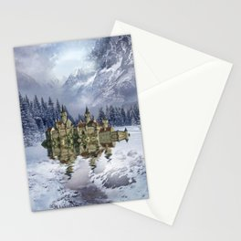 Upon the glacier Stationery Cards