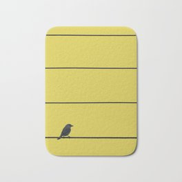 Bird and wires Bath Mat