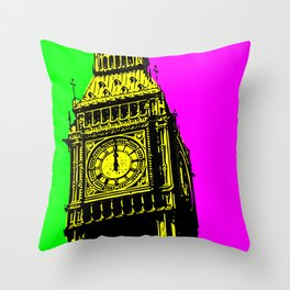 Big Ben - In all her coloured glory... Throw Pillow