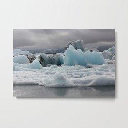 Glacial Lagoon Metal Print