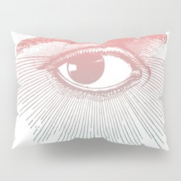 I See You. Pink Turquoise Gradient Sunburst Pillow Sham