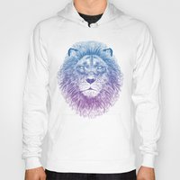body Hoodies featuring Face of a Lion by Rachel Caldwell