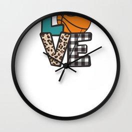 Basketball Love Wall Clock