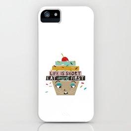 Cupcake eating ice cream iPhone Case