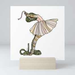 Snake Ballerina Tutu Mini Art Print