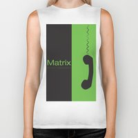 "matrix Biker Tanks featuring Film ""Matrix"" by Patricia Calzado"