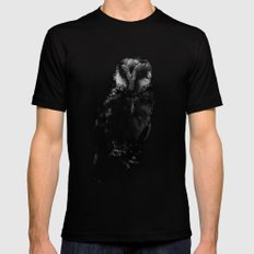 The Owl LARGE Mens Fitted Tee Black