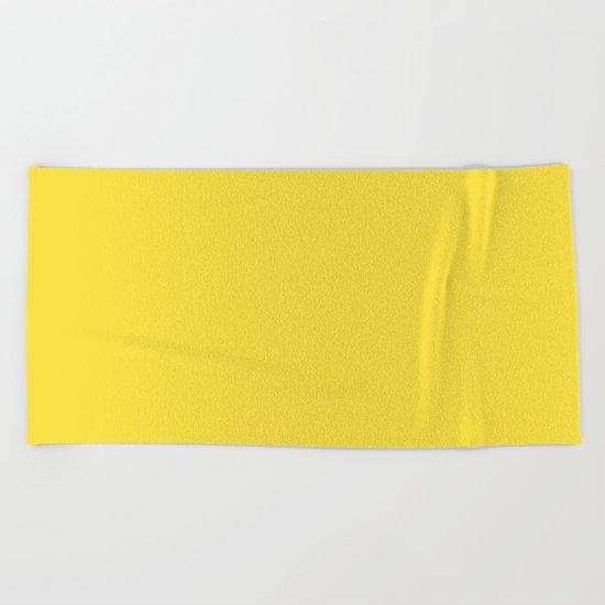 Daffodil (Yellow) Color Beach Towel