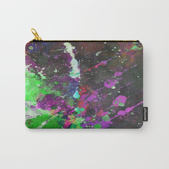 Breakthrough - Multi Coloured Abstract Textured Painting Carry-All Pouch