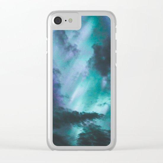 Aurora Borealis III Clear iPhone Case