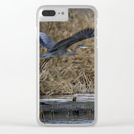 Flight of the Heron No. 1 Clear iPhone Case