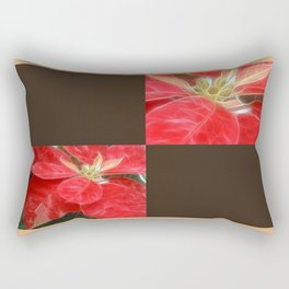 Mottled Red Poinsettia 1 Ephemeral Blank Q3F0 Rectangular Pillow