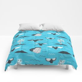 Whale Tails (The Humpback Kind!) Comforters
