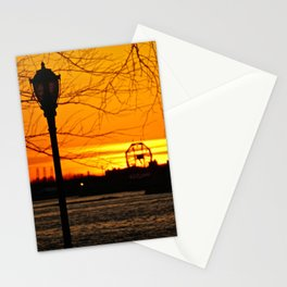 Sunset over The Hudson River NYC 2 Stationery Cards