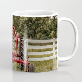 IH 240 Red International Farmall Tractor Front View Coffee Mug