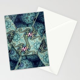 Amazing patterns in cubes and orbs Stationery Cards