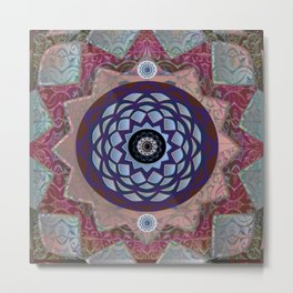 Sacred Geometry Moroccan Texture Portrait Print Metal Print