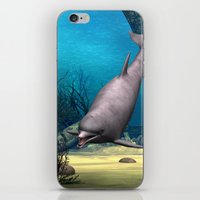 dolphin iPhone & iPod Skins featuring Dolphin by Design Windmill