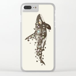 Fractured Killer Whale Clear iPhone Case
