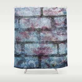 """""""Another brick in the wall"""" Shower Curtain"""