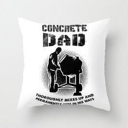 Concrete Worker Throw Pillow