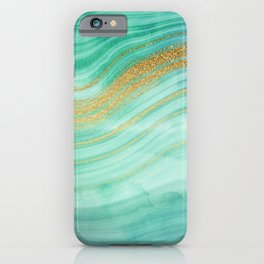 Green Gold Malachite  iPhone Case