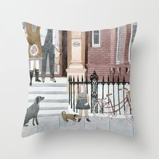 Family Out Throw Pillow
