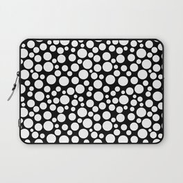 White polka dots on a black background. Laptop Sleeve