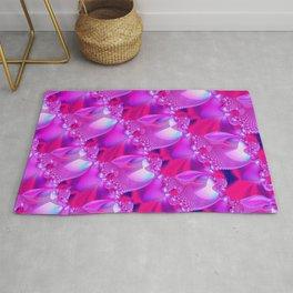 Pink fractal pattern. Rug