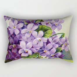 Vintage Victorian Purple Flowers Rectangular Pillow