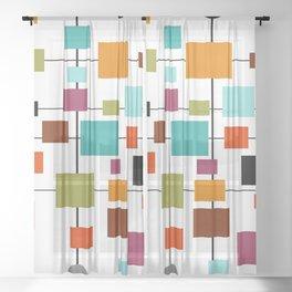 Mid-Century Modern Art 1.3.1 Sheer Curtain
