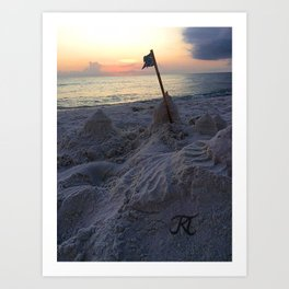 Sandcastle Sunset Art Print