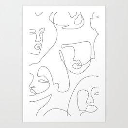 Crowd Portrait Art Print