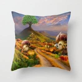 Hidden Village Throw Pillow