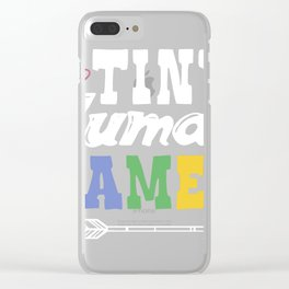 Gift graphic 4 Teachers or Parents | Tiny Human Tamer Tee Clear iPhone Case