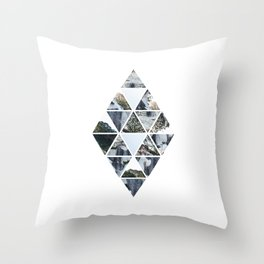 Triangles and Rocks Throw Pillow
