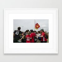 quidditch Framed Art Prints featuring Southern Quidditch by Mollie Evans