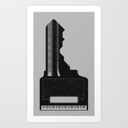 Piano Key. Art Print